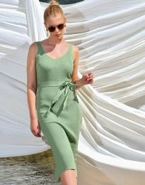 Дамска рокля в зелено - код 2721