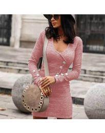 Дамска рокля в розово - код 4516