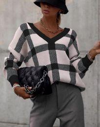 Ефектна дамска блуза в черно - код 8927