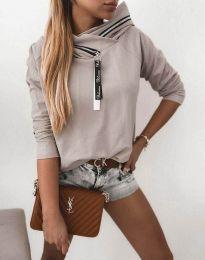 Атрактивна дамска блуза в бежово - код 48533