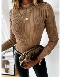 Дамска блуза в кафяво - код 9930