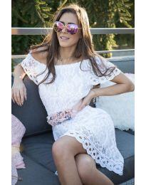 Дантелена рокля в бяло - код 883