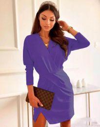 Елегантна дамска рокля в лилаво - код 2058