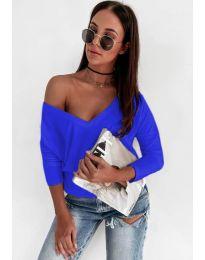 Дамска блуза в синьо - код 3478