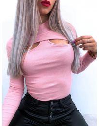 Дамска блуза в розово - код 1412