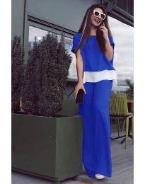 Дамски комплект в синьо - код 5044