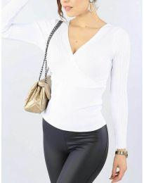 Дамска блуза в бяло - код 6455