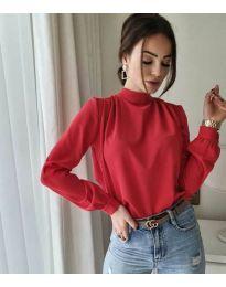 Дамска блуза в червено - код 833