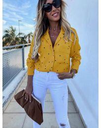 Дамска риза в цвят горчица - код 8050
