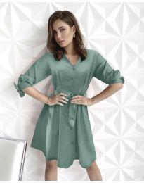 Изчистена рокля в цвят мента - код 9028