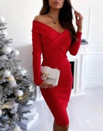 Елегантна рокля в червено - код 6130