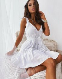 Феерична рокля в бяло - код 0710