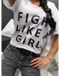 Тениска с надпис в бяло - код 287