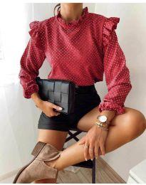 Дамска блуза в червено - код 5455