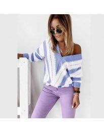 Дамска блуза в светло синьо - код 0907