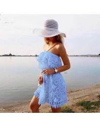 Ефирна рокля в синьо - код 4849