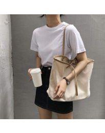 Ежедневна дамска чанта с бежова дръжка - код B489