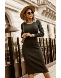 Дамска рокля в черно - код 8485