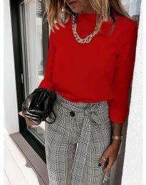 Дамска блуза в червено - код 9432