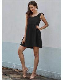 Изчистена рокля в черно  - код 2255