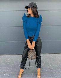 Стилна дамска блуза в синьо - код 2838