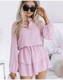 Дамска рокля в светло лилаво - код 4093