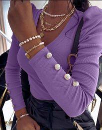 Дамска блуза в лилаво - код 2065