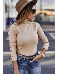 Дамска блуза в бежово - код 7971