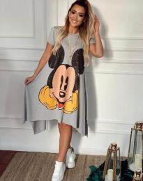 Дамска рокля в сиво с анимация - 2304