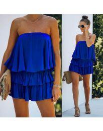 Свободна рокля в тъмно синьо - код 0489