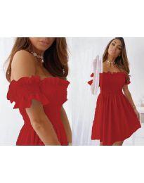 Свободна къса дамска рокля в червено - код 0310