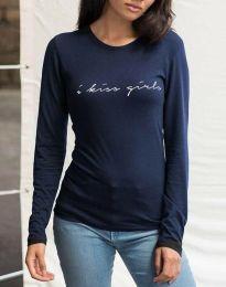 Дамска блуза в тъмносиньо - код 3333