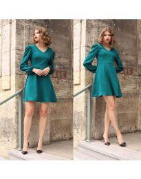 Дамска рокля в цвят тюркоаз - код 1478