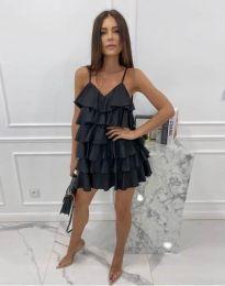 Лятна рокля в черно - код 8190