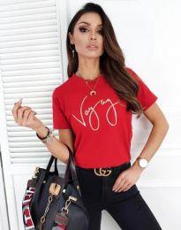 Дамска тениска в червено - код 3350