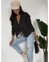Дамско късо яке в черно - код 888