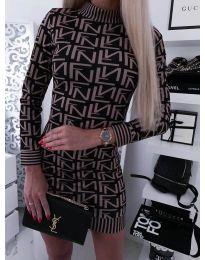 Дамска рокля с ефектен десен - код 3292 - 4