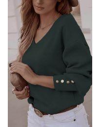 Елегантна дамска блуза в маслено зелено - код 812