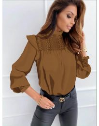 Дамска блуза в кафяво - код 6202