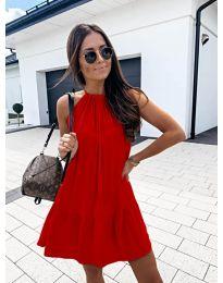 Феерична рокля в червено - код 632