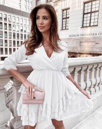 Атрактивна дамска рокля в бяло - код 0545