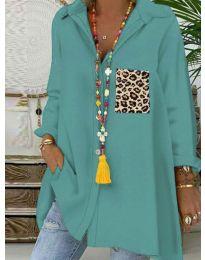 Екстравагантна блуза в цвят мента - код 5641