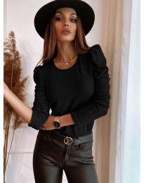 Дамска блуза в черно - код 9556