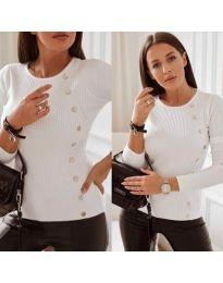 Дамска блуза в  бяло - код 9003
