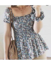 Дамска блуза в синьо - код 3464