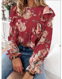 Дамска блуза в червено - код 4256
