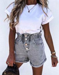 Къси панталонки в сиво - код 5301
