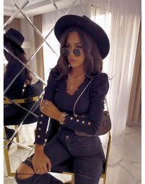 Атрактивна дамска блуза в черно - код 4156