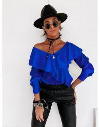 Дамска блуза в синьо - код 6030