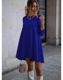 Свободна рокля в синьо - код 371